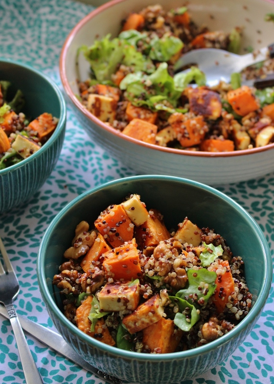Sweet Potato, Haloumi, and Quinoa Salad | Vegetarian | Gluten Free | Thoroughly Nourished Life