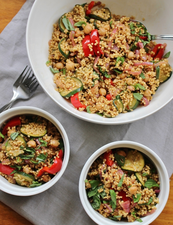 Capsicum, Zucchini, Chickpea and Millet Bowl | Gluten Free | Vegan | Thoroughly Nourished Life