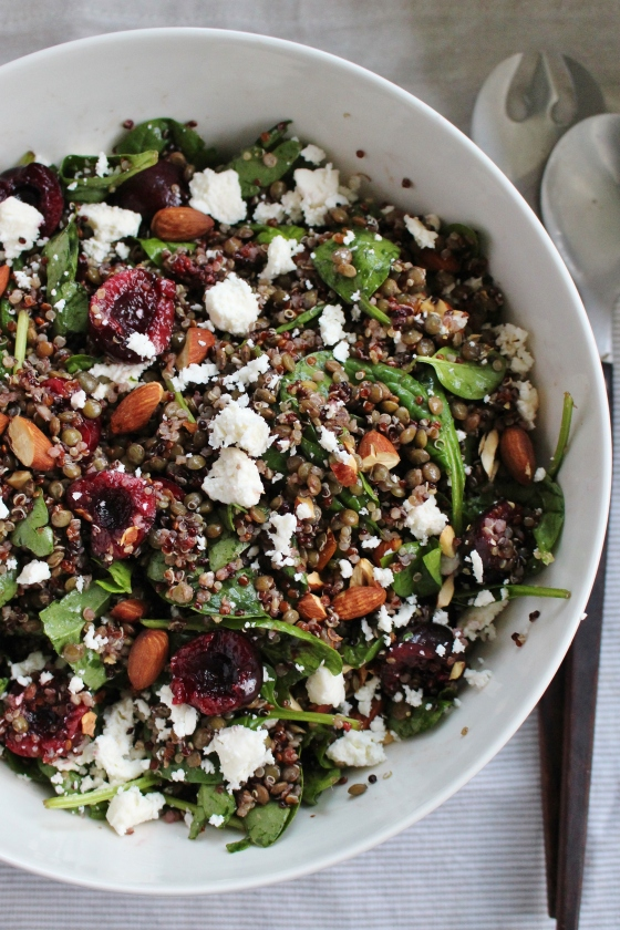 Cherry, Lentil, and Quinoa Salad | Vegetarian | Gluten Free | Thoroughly Nourished Life
