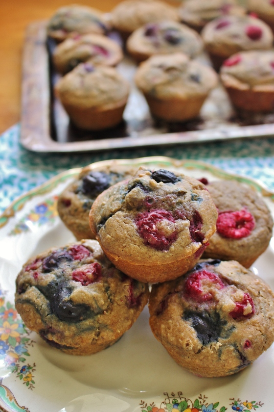 Healthy Mixed Berry Muffins | Gluten Free | Thoroughly Nourished Life