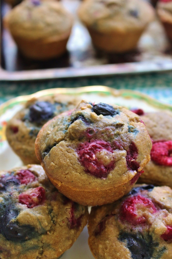 Healthy Mixed Berry Muffins 4