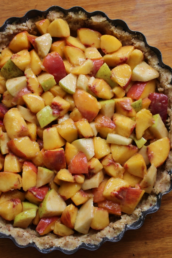 Peach Apple Crumble Pie | Gluten Free | Thoroughly Nourished Life