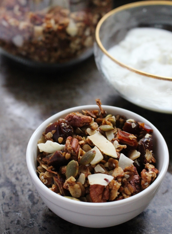 Pecan, Buckwheat, Coconut and Date Granola | Gluten Free | Thoroughly Nourished Life