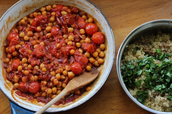 Roasted Tomato and Chickpea Stew with Basil Quinoa | Vegan | Gluten Free | Thoroughly Nourished Life