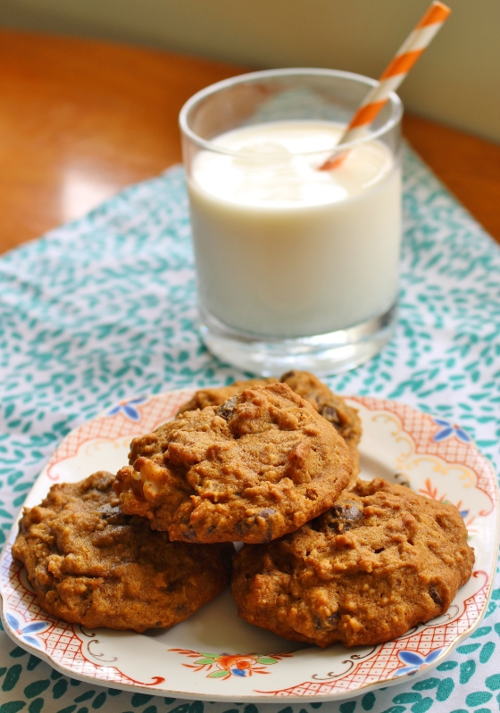 Pumpkin Oat Walnut Chocolate Chip Cookies | Gluten Free | Thoroughly Nourished Life