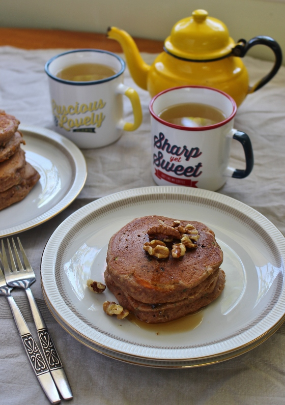 Zucchini, Carrot, and Walnut Pancakes | Gluten Free | Thoroughly Nourished Life