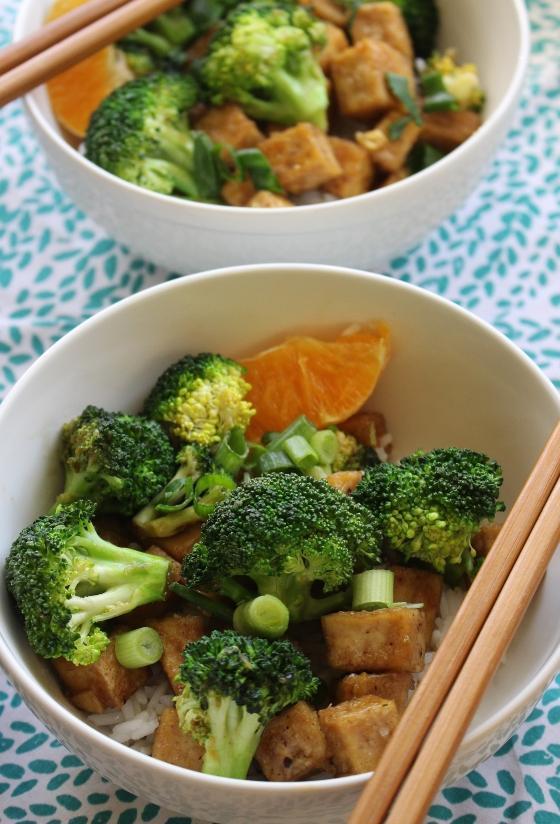Honey, Orange, and Ginger Broccoli and Tofu Stir-Fry | Vegetarian | Gluten Free | Thoroughly Nourished Life