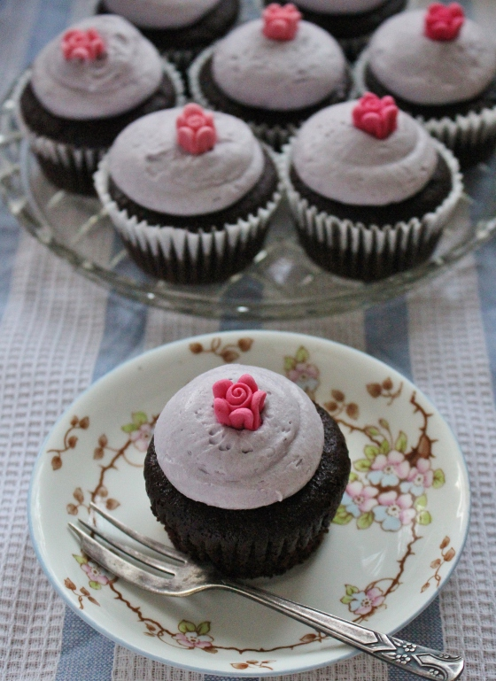 One-Bowl Chocolate Cupcakes with Rosewater Buttercream | Gluten Free | Thoroughly Nourished Life