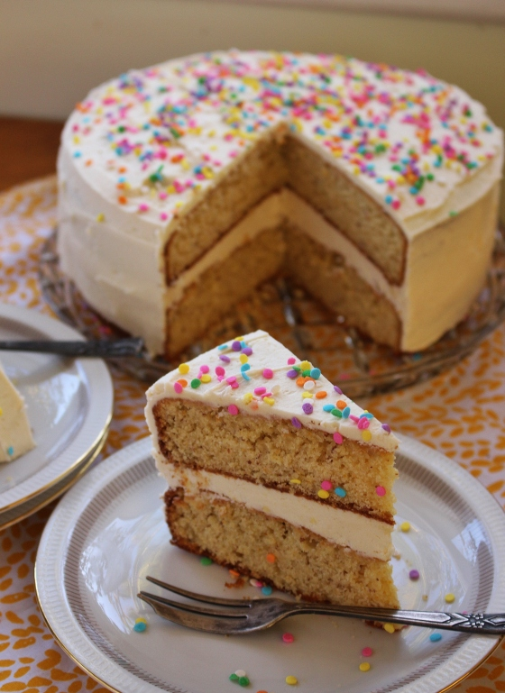 Orange Layer Cake with Vanilla Buttercream | Gluten Free | Thoroughly Nourished Life