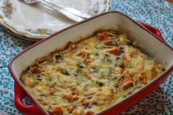 Butternut Pumpkin and Zucchini Crustless Quiche | Gluten Free | Vegetarian | Thoroughly Nourished Life
