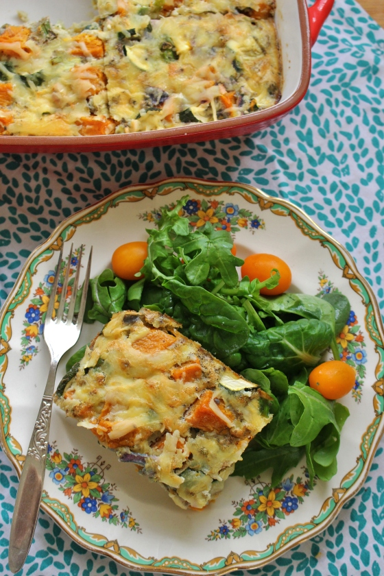 Butternut Pumpkin and Zucchini Crustless Quiche | Gluten Free | Vegetarian | Thoroughly Nourished Life