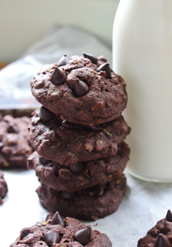 Chocolate Chocolate Chip Zucchini Cookies | Gluten Free | Thoroughly Nourished Life
