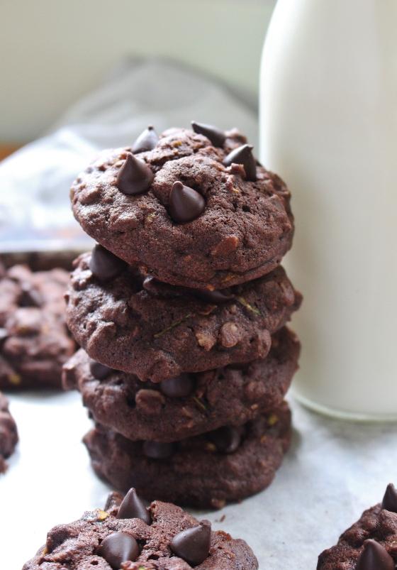 Chocolate Chocolate Chip Zucchini Cookies | Gluten Free | Thoroughly Nourished Life