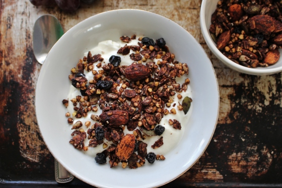 Crispy Buckwheat, Cocoa, and Blueberry Granola | Gluten Free | Vegan | Thoroughly Nourished Life