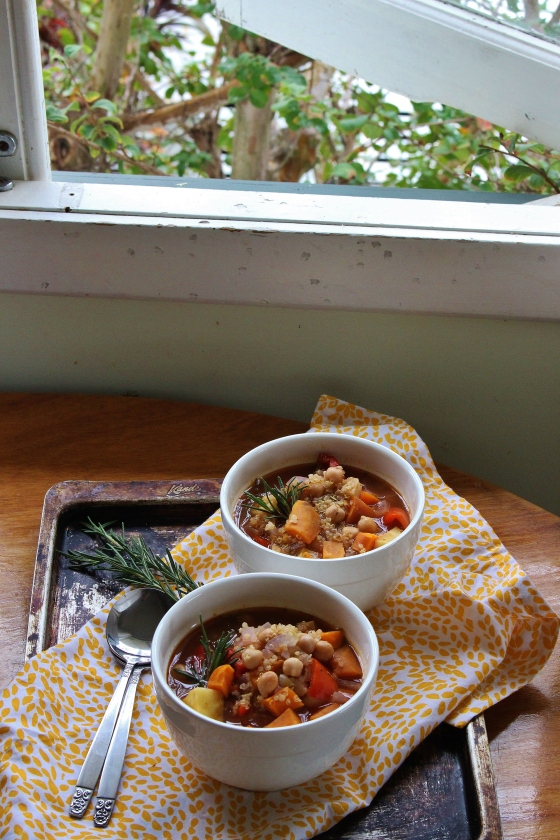 Roasted Autumn Vegetable Quinoa Soup | Vegan | Gluten Free | Thoroughly Nourished Life