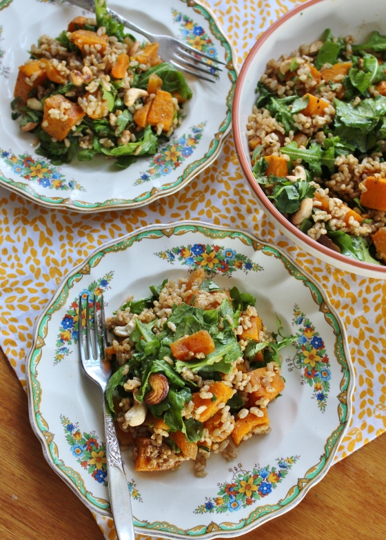 Cumin Roasted Pumpkin and Brown Rice Moroccan Salad | Vegan | Gluten Free | Thoroughly Nourished Life