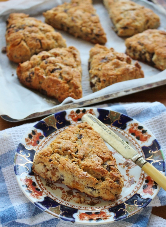 Almond, Apricot and Chocolate Chunk Scones | Gluten Free | Thoroughly Nourished Life
