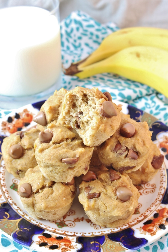 Banana, Peanut Butter, Chocolate Chip Muffins | Gluten Free | Thoroughly Nourished Life