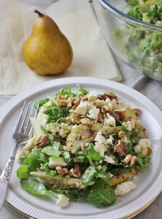 Pear, Quinoa, and Walnut Salad | Gluten Free | Vegetarian | Thoroughly Nourished Life