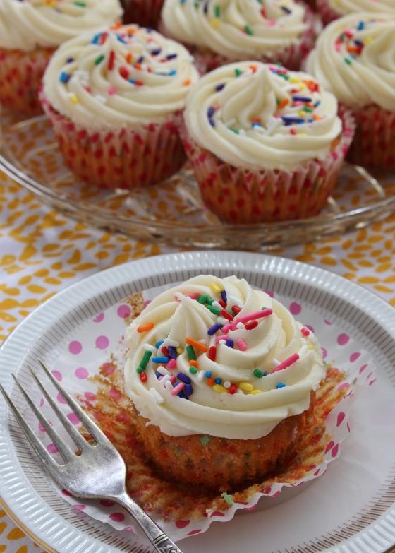 Sprinkle Birthday Cake Cupcakes | Gluten Free | Thoroughly Nourished Life