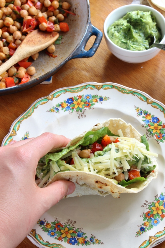 Spicy Chickpea Tacos with Coriander Guacamole | Gluten Free | Vegan | Thoroughly Nourished Life