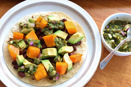 Pumpkin, Black Bean and Avocado Tostadas | Vegan | Gluten Free