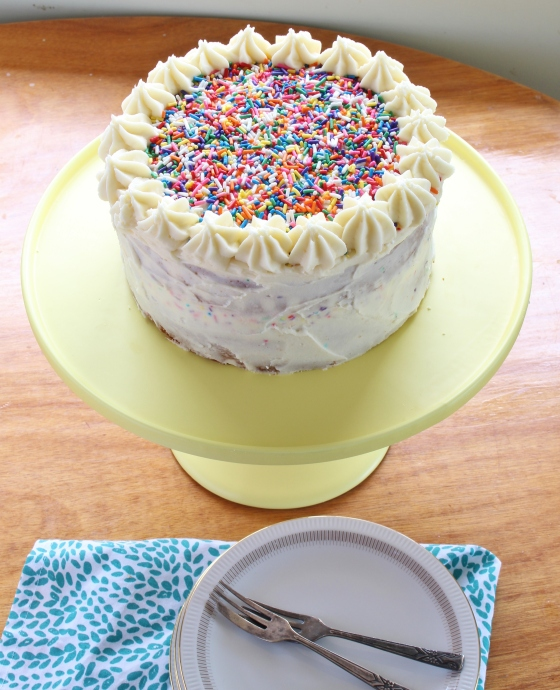 Vanilla Celebration Cake | Gluten Free | Thoroughly Nourished Life