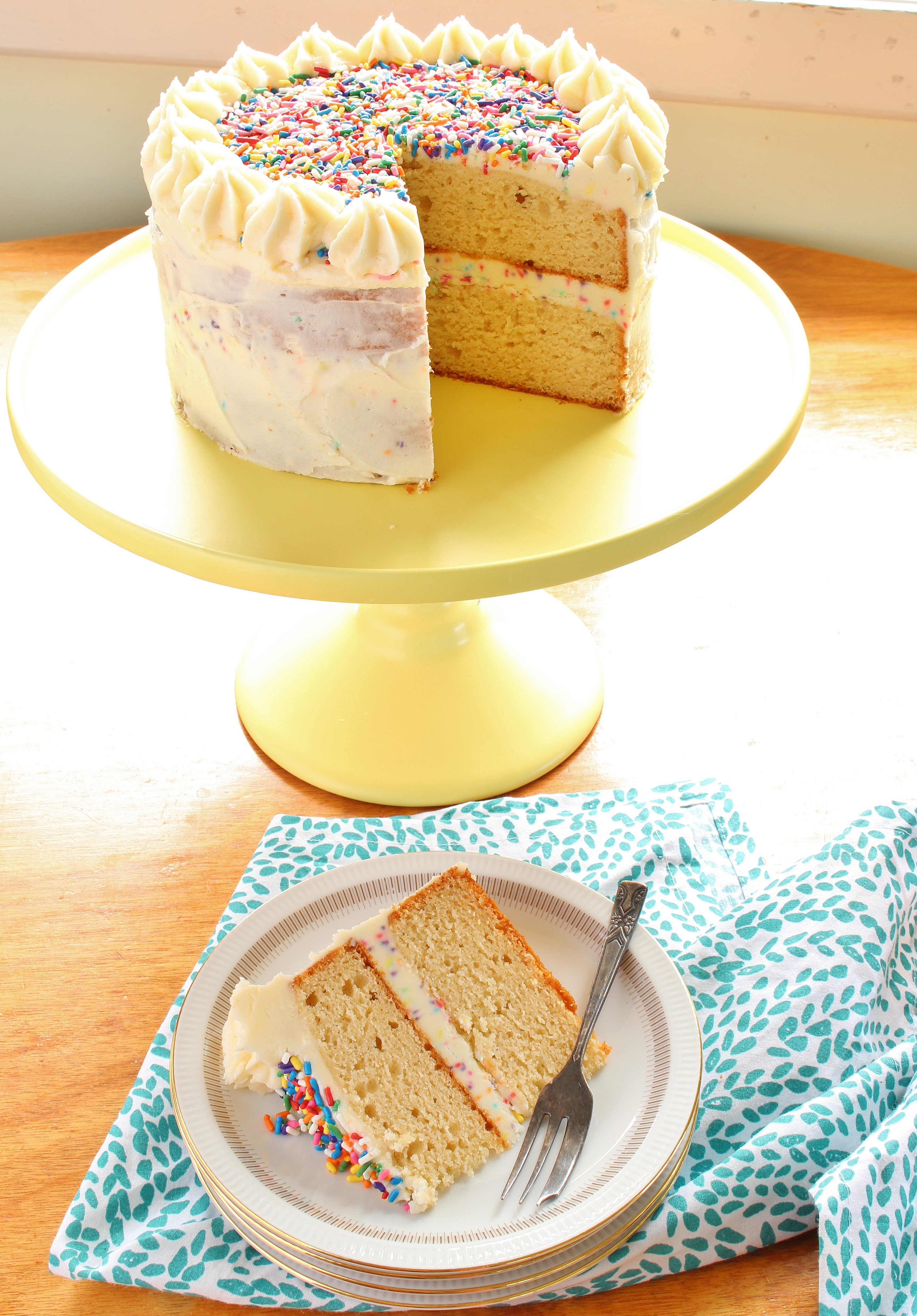 Vanilla Celebration Cake | Gluten Free | Thoroughly ...