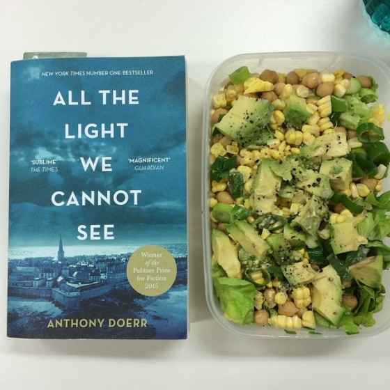 wk 26 salad and book