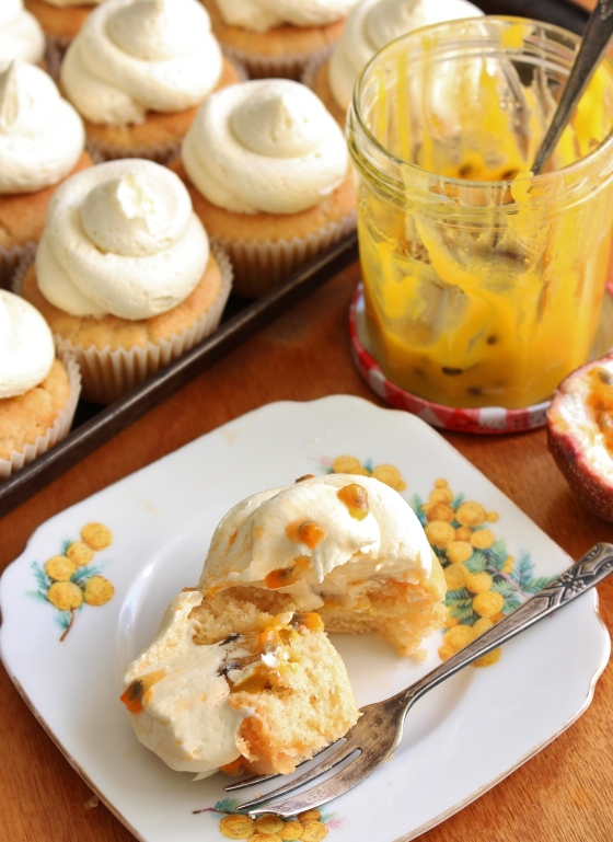 Passionfruit Curd Cupcakes with White Chocolate Buttercream | Gluten Free | Thoroughly Nourished Life