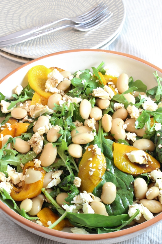 Simple Roasted Capsicum, Butter Bean and Feta Salad | Vegetarian | Gluten Free | Thoroughly Nourished Life | thoroughlynourishedlife.com