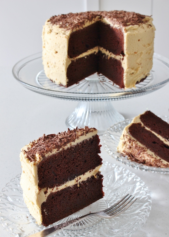 Chocolate Layer Cake with Peanut Butter Frosting   Gluten Free   Thoroughly Nourished Life