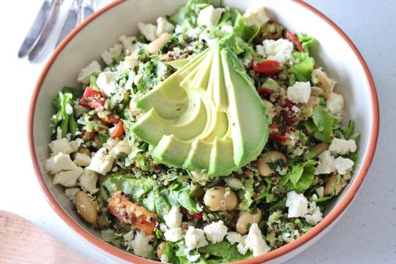 Chimichurri Quinoa Salad | vegetarian | gluten free | Thoroughly Nourished Life