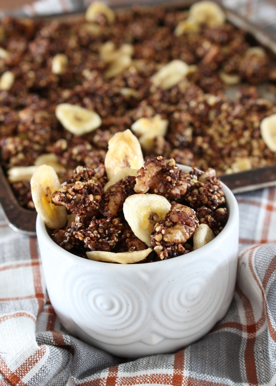 Mocha Banana Buckwheat Granola | Gluten Free | Vegan | Thoroughly Nourished Life