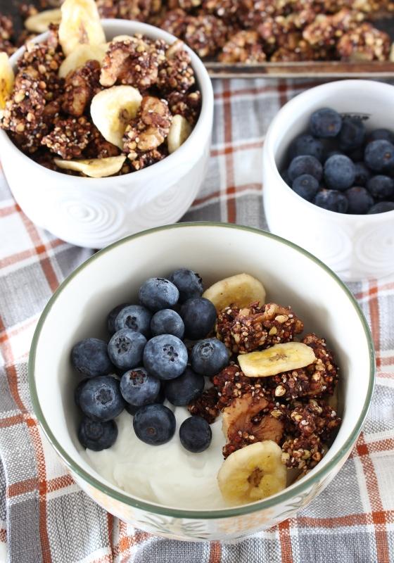 Mocha Banana Buckwheat Granola   Gluten Free   Vegan   Thoroughly Nourished Life